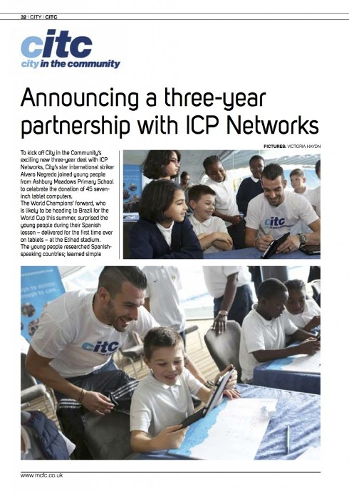 ICP - Man City v Tottenham Program
