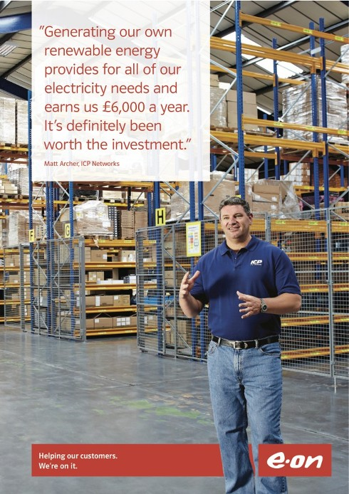 ICP Networks Green IT Success highlighted by EON for national campaign