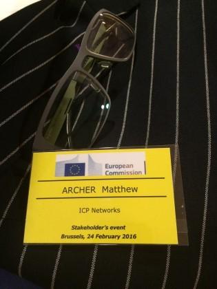 Matt Archer jets into Brussels for EU talks